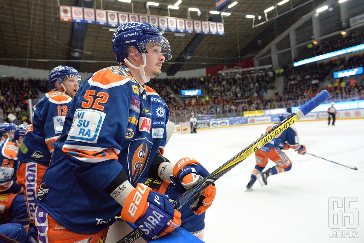 Otso Rantakari on noussut Tapparan tehomieheksi loukkaantumisen jälkeen.