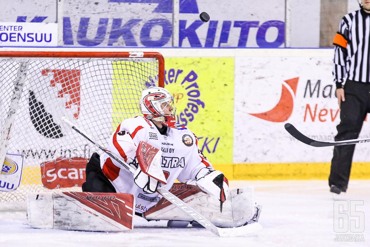 Markus Ruusu on pelannut viime otteluissa JYP-Akatemian maalilla.