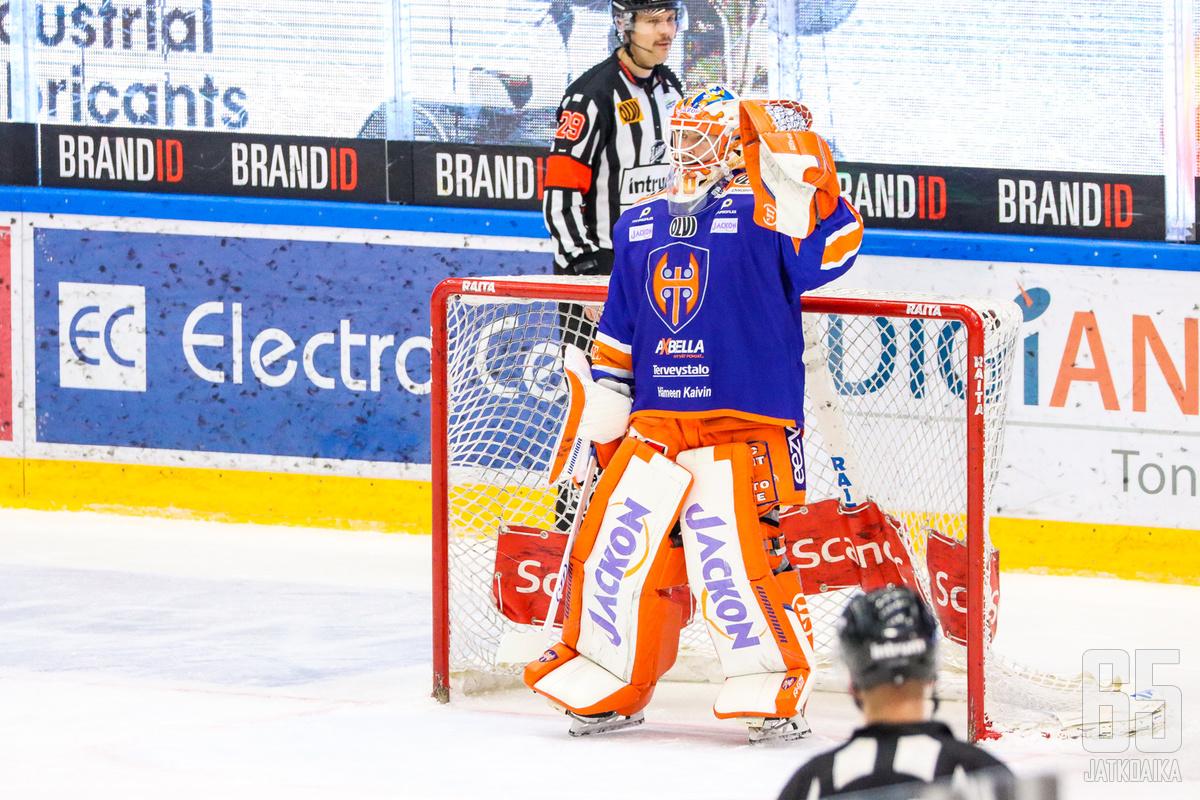 Christian Heljanko oli voiton takuumies Tapparan kaataessa Kärpät.