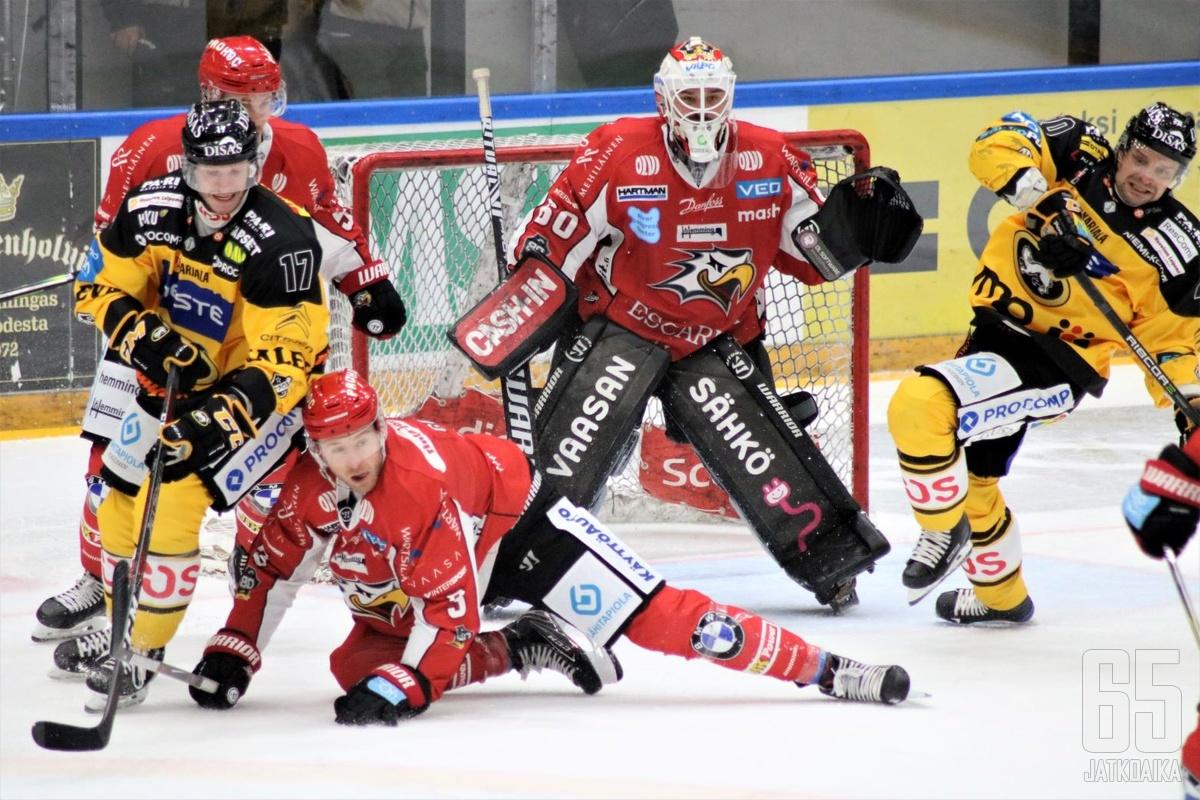 Sport ja Kärpät aloittavat omat pudotuspelikeväänsä torstaina 15.4.