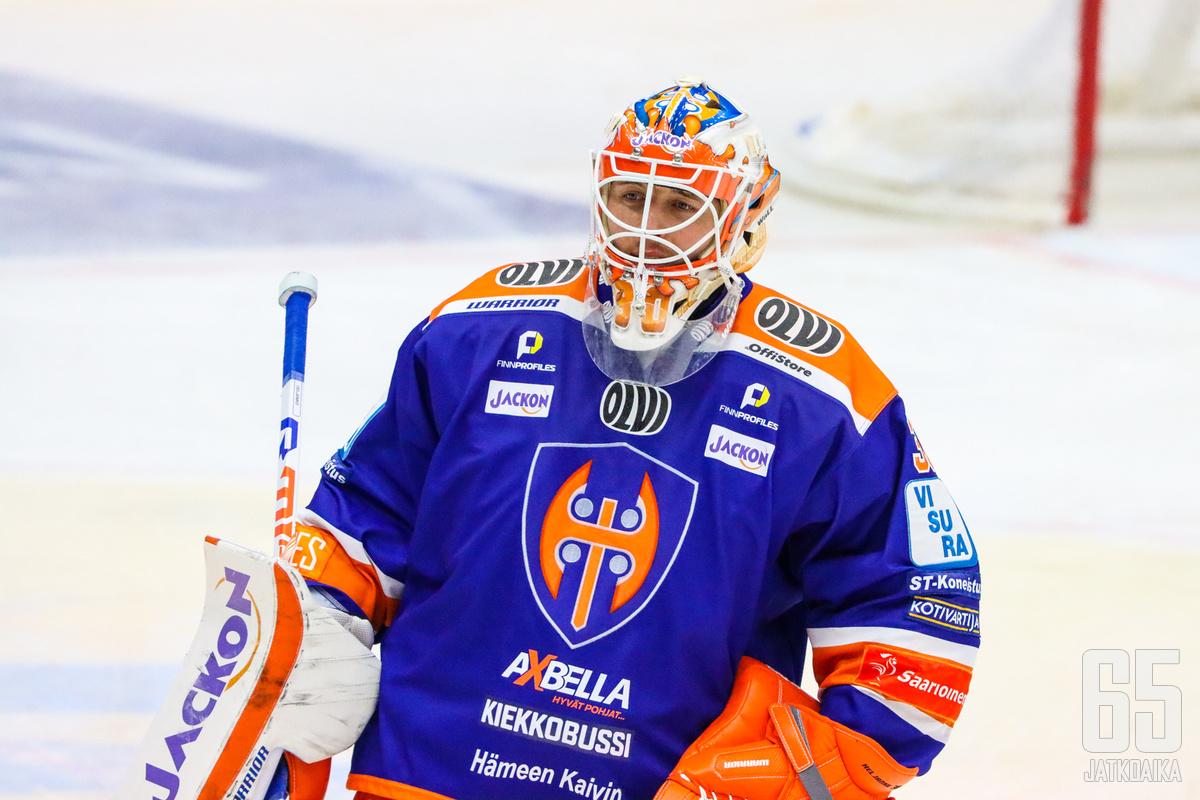 Heljanko torjui 23 kertaa Tapparan ryöstäessä voiton Raumalta.
