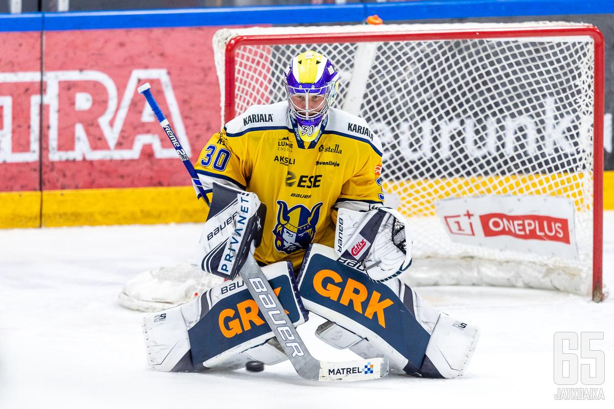 Sami Rajaniemi torjui voiton 400. liigaottelussaan.