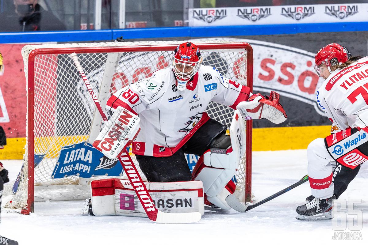 Rasmus Reijolalla piti jälleen kiirettä Sportin maalilla.