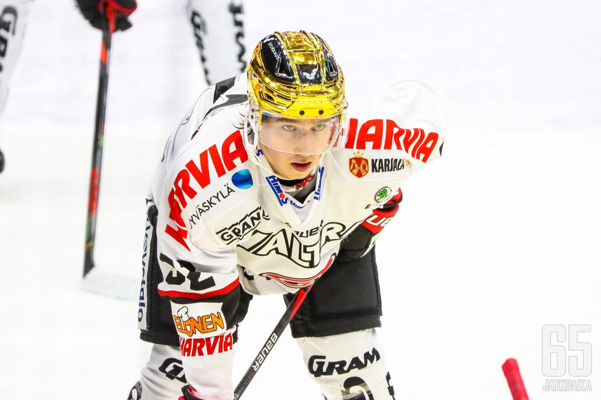 Jerry Turkulainen on yksi JYPin johtavista pelaajista alkavalla kaudella.