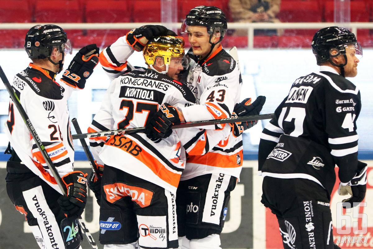 Petri Kontiola saalisti ottelussa kolme syöttöpistettä