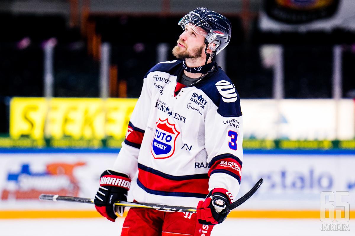 Jonne Virtanen siirtyi Mestis-joukkue TUTOsta Herning Blue Foxin riveihin 14.10.2019.
