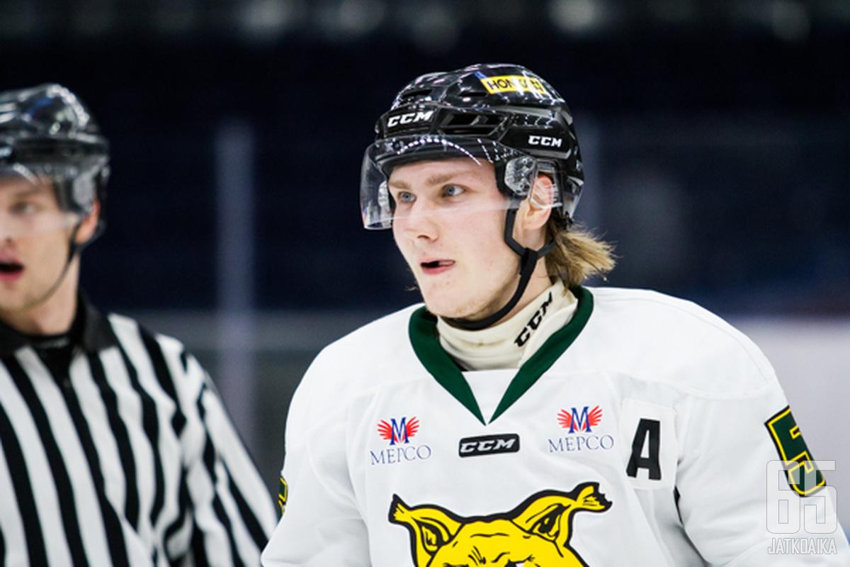 Henry Mäntylä on pelannut kymmenen Liiga-peliä Tampereen Ilveksen paidassa.