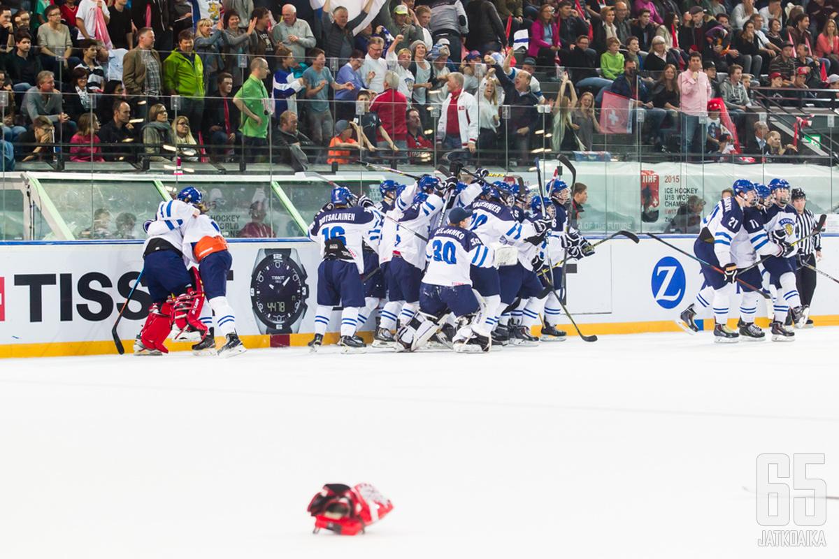 Välierä päättyi Suomen kannalta riemullisiin tunnelmiin.