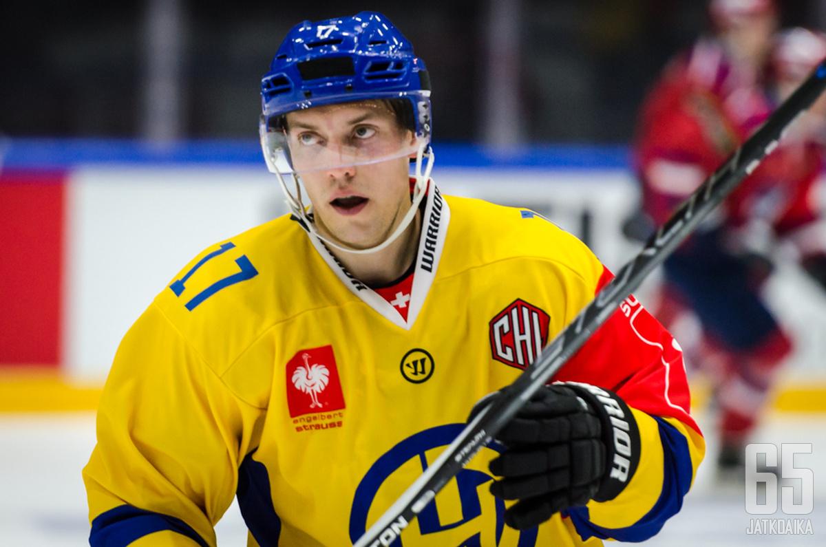 Perttu Lindgren on pelannut Sveitsin pääsarjassa jo kahdeksan kautta.
