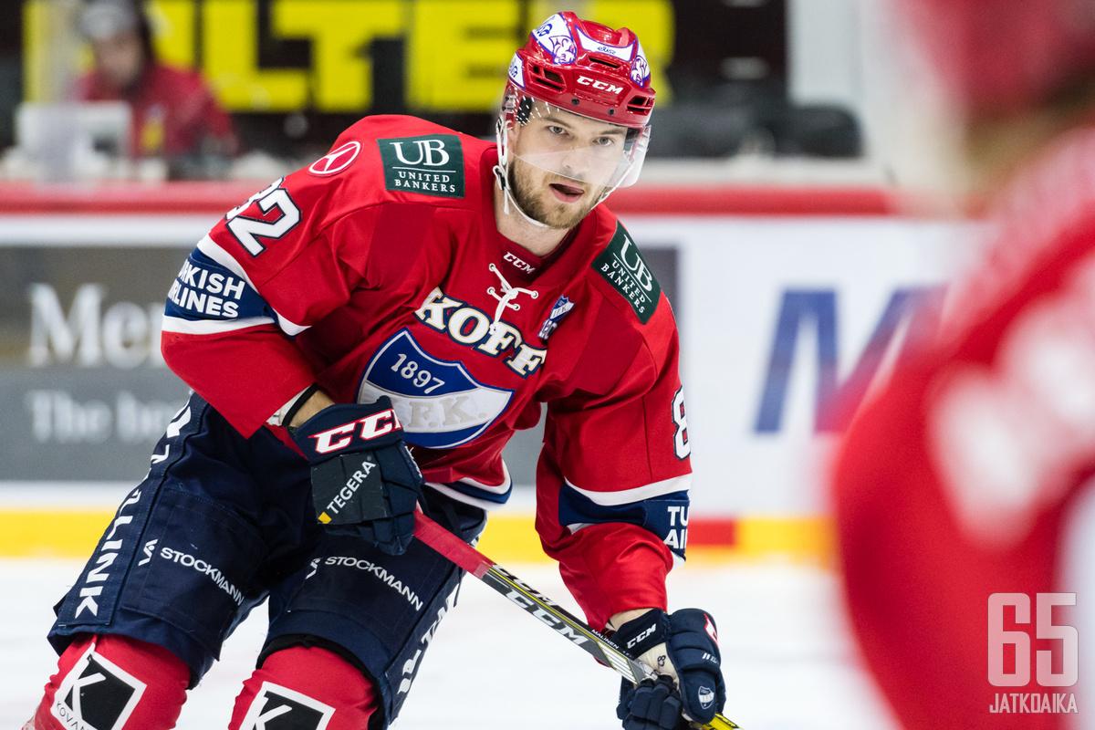 Malinen oli runkosarjassa HIFK:n neljänneksi tehokkain pelaaja.