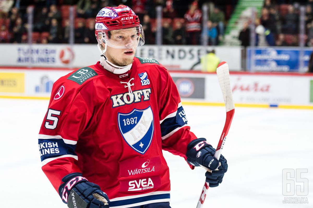 Vili Sopanen teki HIFK:n avausmaalin. (Arkistokuva)