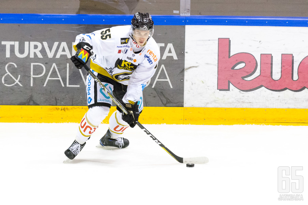 Miika Koivisto on saanut finaalisarjan pelaajista eniten peliminuutteja välierissä ja finaaleissa.