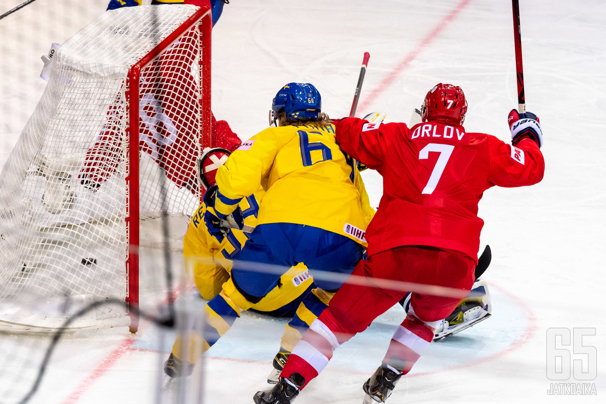 Dmitri Orlov liittyi Venäjän miehistöön Ruotsi-ottelussa.