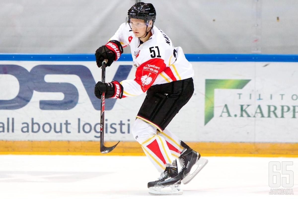 Kristian Näkyvä on yksi CHL:n suomalaismestareista.