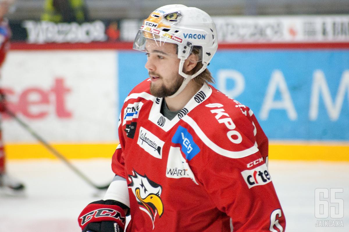 Westermarck pelasi menneellä kaudella Liigaa ja Mestistä.