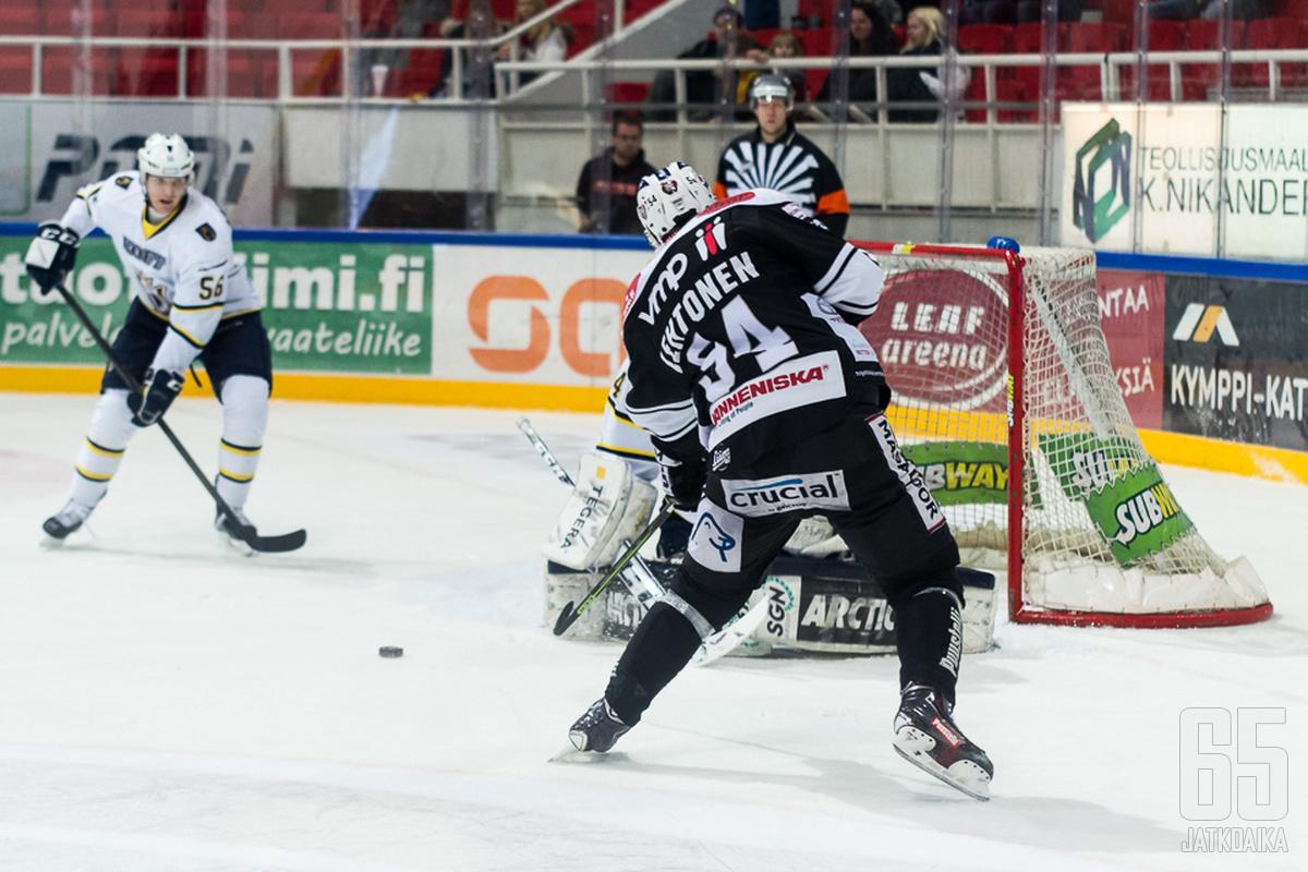 Mikko Lehtonen oli yksi onnistujista eilisessä kamppailussa.