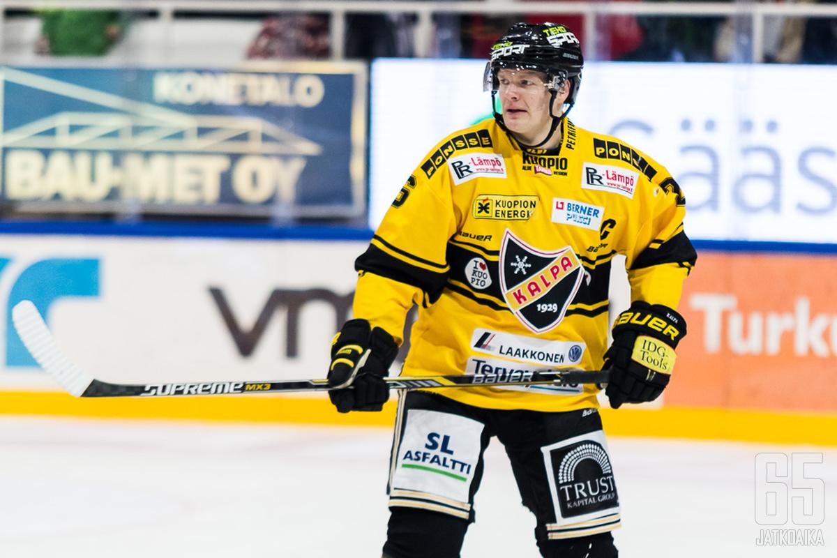 Jokela jatkaa kuopiolaisryhmän kapteenina.