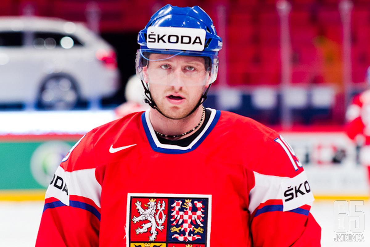Jiri Tlusty Tšekin maajoukkueen mukana