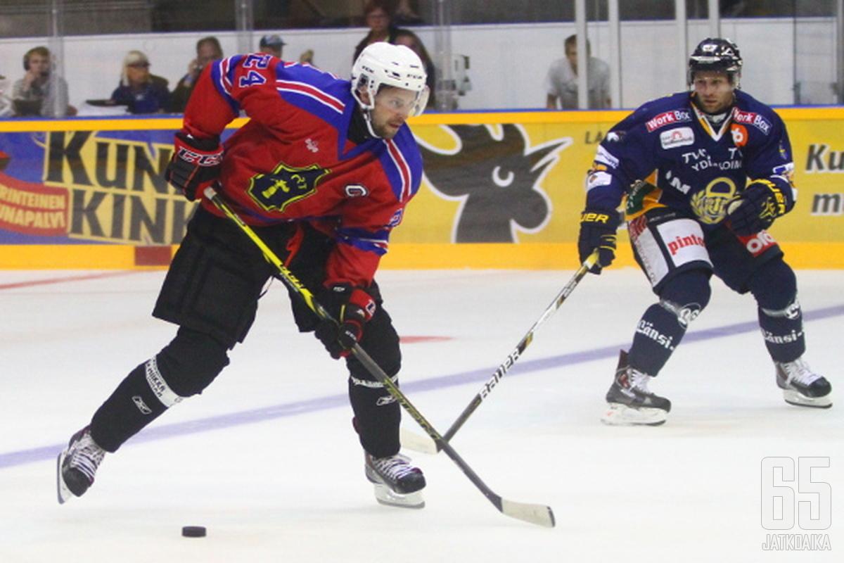 Malkamäki sai Vaasassa kapteeniuden kunnian.