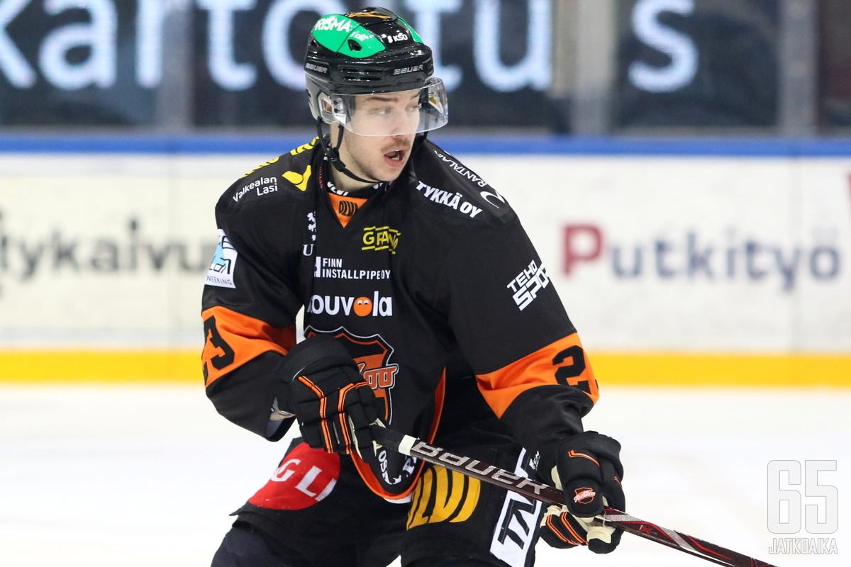 Niki Koskinen pelasi seitsemässä liigaottelussa viime kaudella.