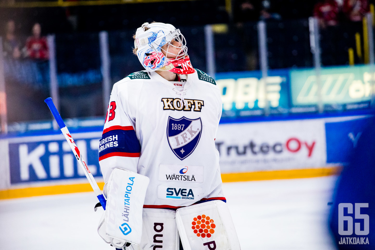 Atte Engren torjui HIFK:n Liigan neljänneksi kaudella 2018-19.