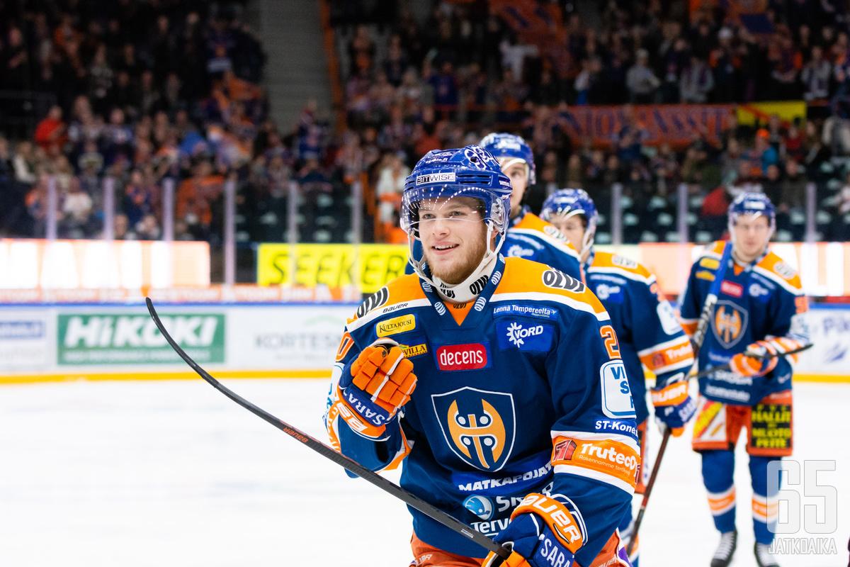 Ojamäki oli Tapparan tehomiehiä päättyneellä kaudella.