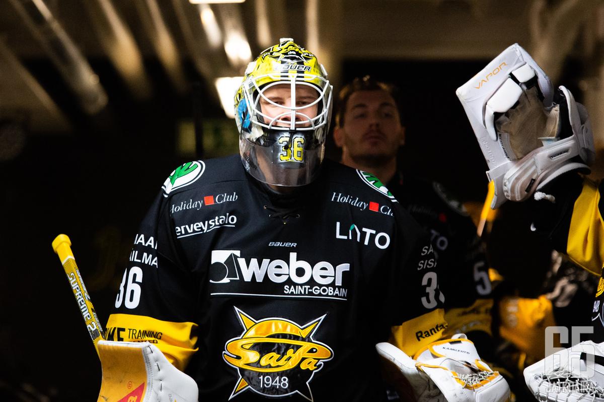 Karolus Kaarlehto pelasi vahvan ottelun SaiPan maalilla.