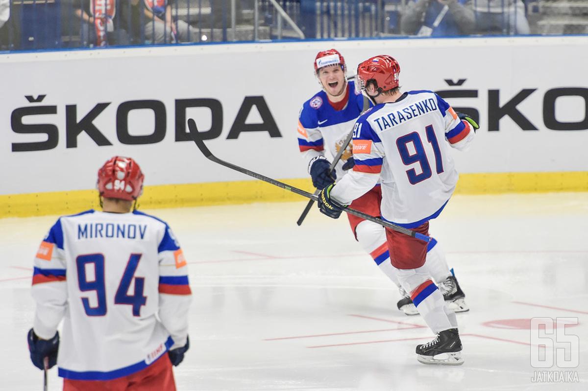 Vladimir Tarasenko vahvistaa Venäjän joukkuetta MM-turnauksessa.