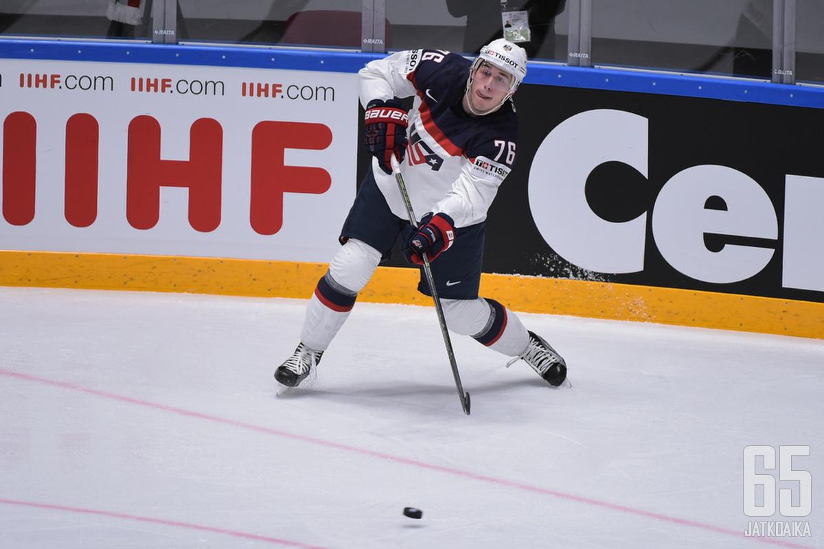 Skjei edusti Yhdysvaltoja myös viime vuoden MM-kisoissa.