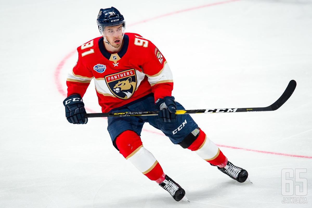 Juho Lammikko avasi maalitilinsä NHL:ssä.