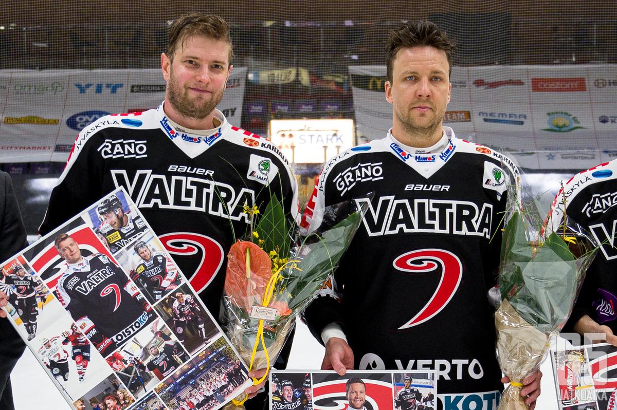 Mikko Kaltevan ja Ossi Louhivaaran pelaajaurat päättyivät tiistaina.
