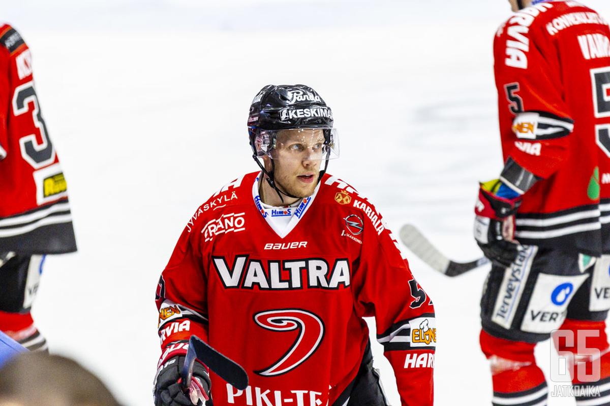 Markus Jokinen vietti kuluneen kauden JYPin paidassa.
