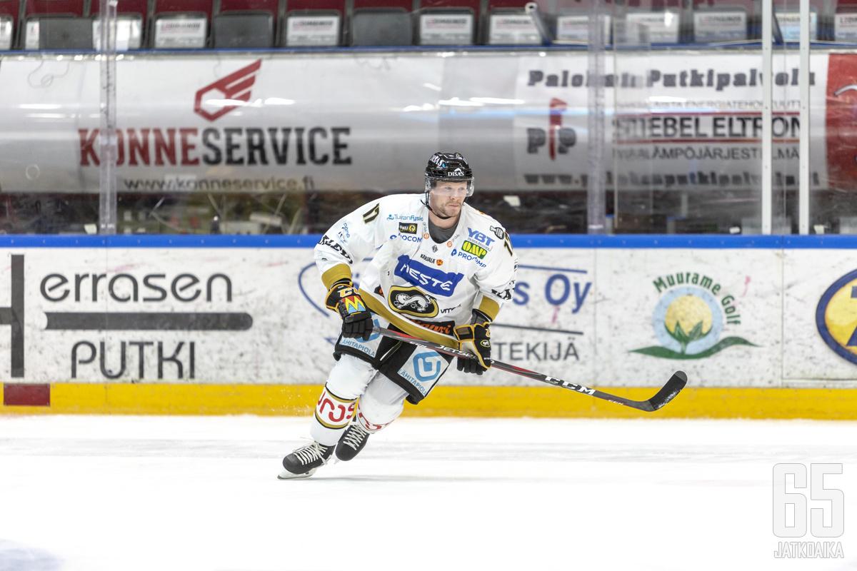 Mika Pyörälä palaa loukkaantumisen jälkeen takaisin Liiga-kaukaloon.