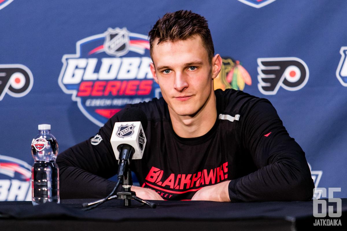Dominik Kubalík debytoi perjantaina NHL:ssä.
