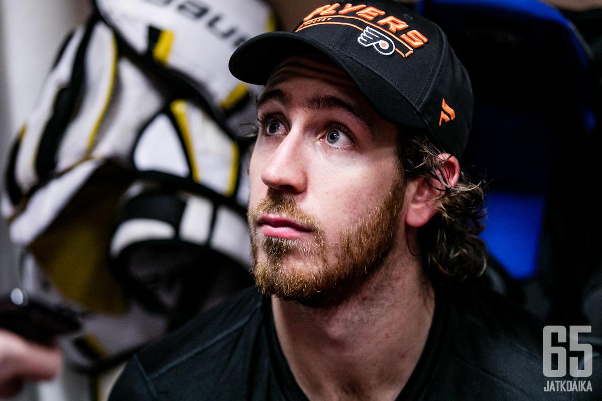 Kevin Hayes ei ole mukana Flyersin vahvuudessa kauden alussa.