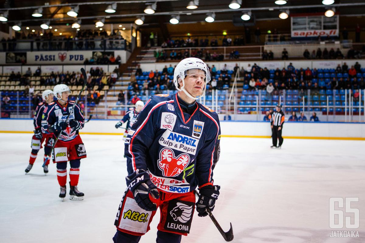 Juuso Forsström kantaa SaPKossa jälleen C-kirjainta yhden Espoo Unitedissa pelatun kauden jälkeen.