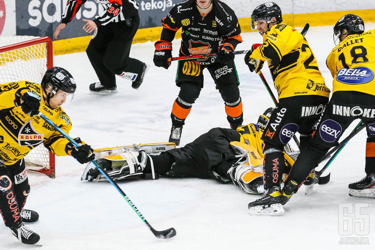 Jesper Mattila hoiti ensin puolustuspään ja sai myöhemmin palkinnon voittomaalin muodossa.