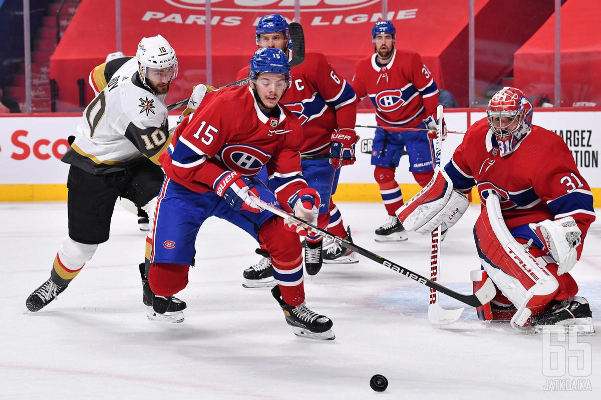 Kokematon Kotkaniemi on ajoittain noussut Canadiensin konkaritähtien rinnalle ratkaisijaksi.