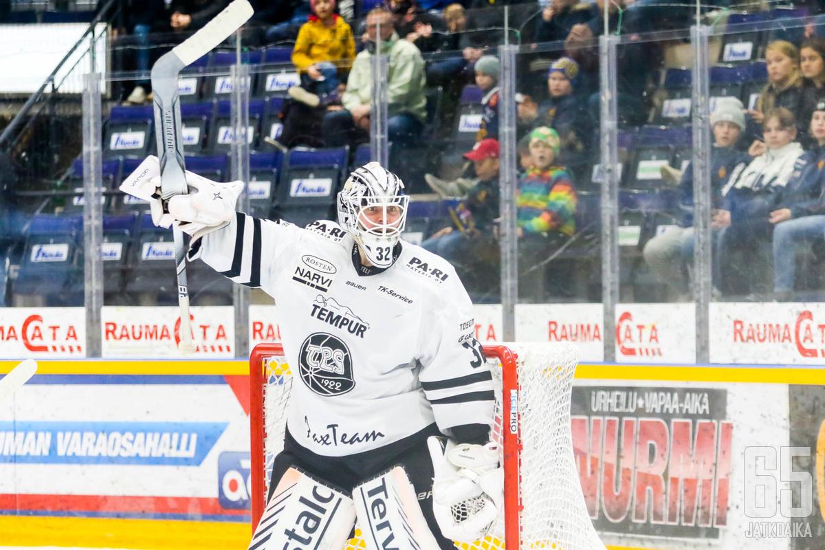 Rasmus Tirrosen vastuu Turussa jäi kuluvalla kaudella olemattomiin.