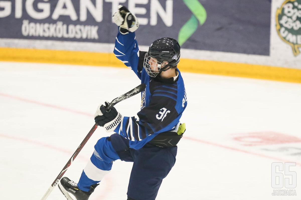 Patrik Puistola oli Suomen tehokkain maalintekijä kevään alle 18-vuotiaiden MM-kisoissa.
