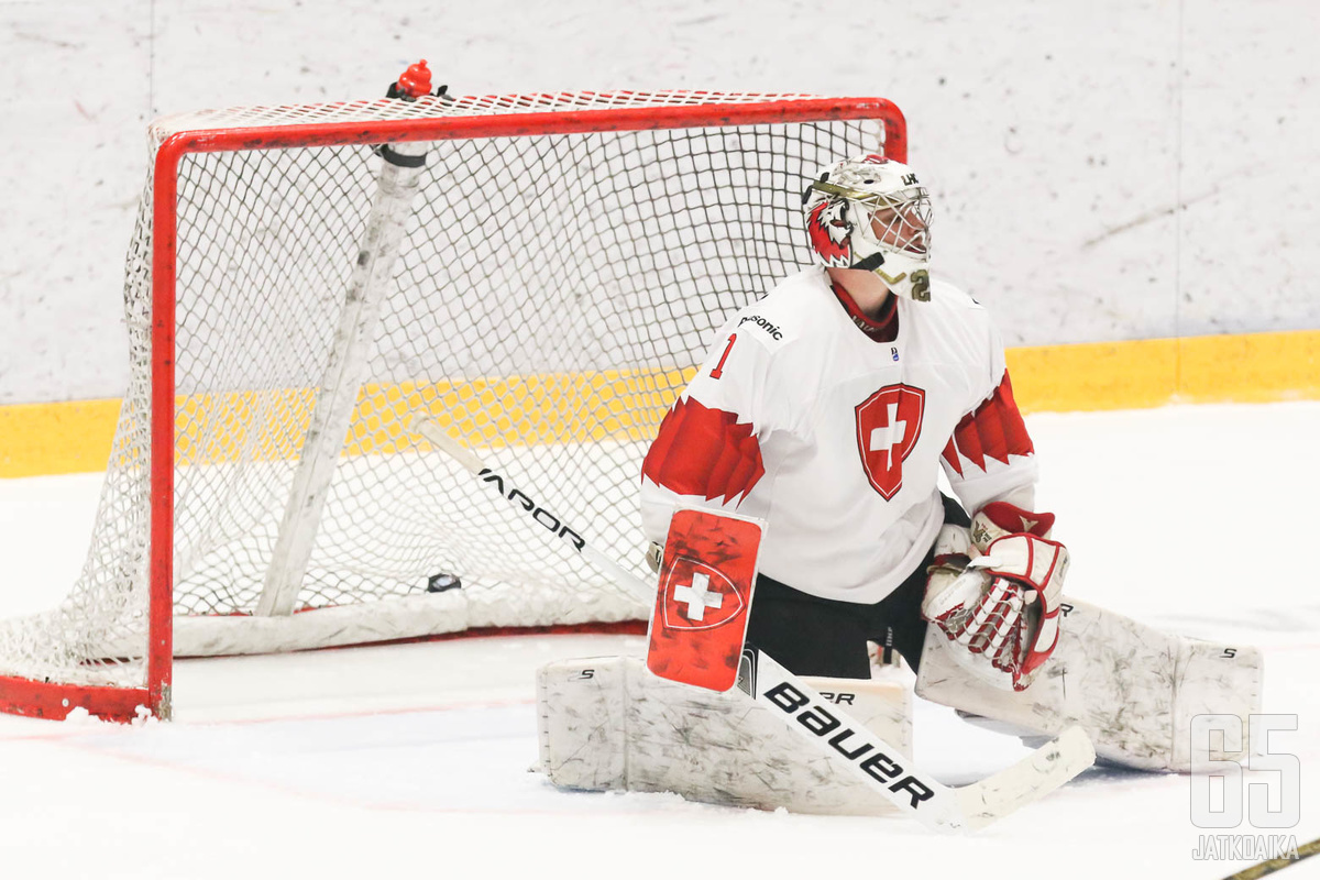 Sveitsi joutui armottomaan myllyyn Kanadaa vastaan. (arkistokuva)