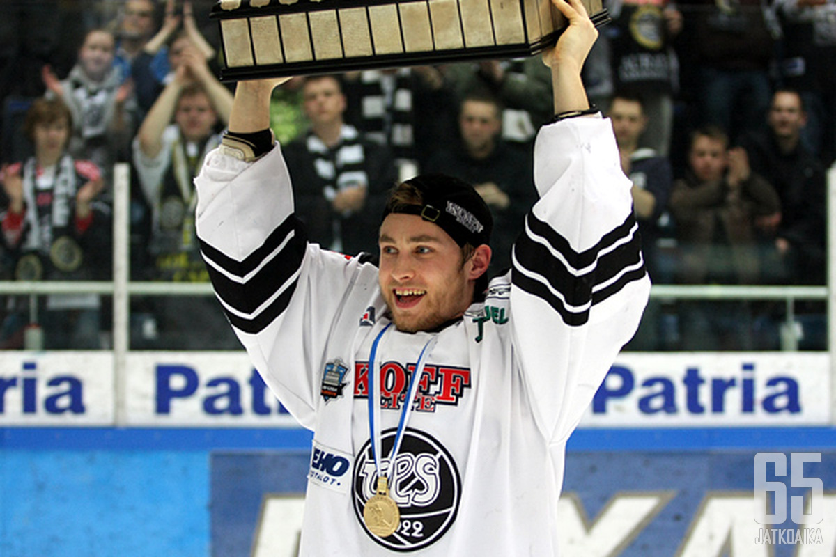 Ilari Filppulan uran huippuhetki oli TPS:ssä voitettu mestaruus keväällä 2010.