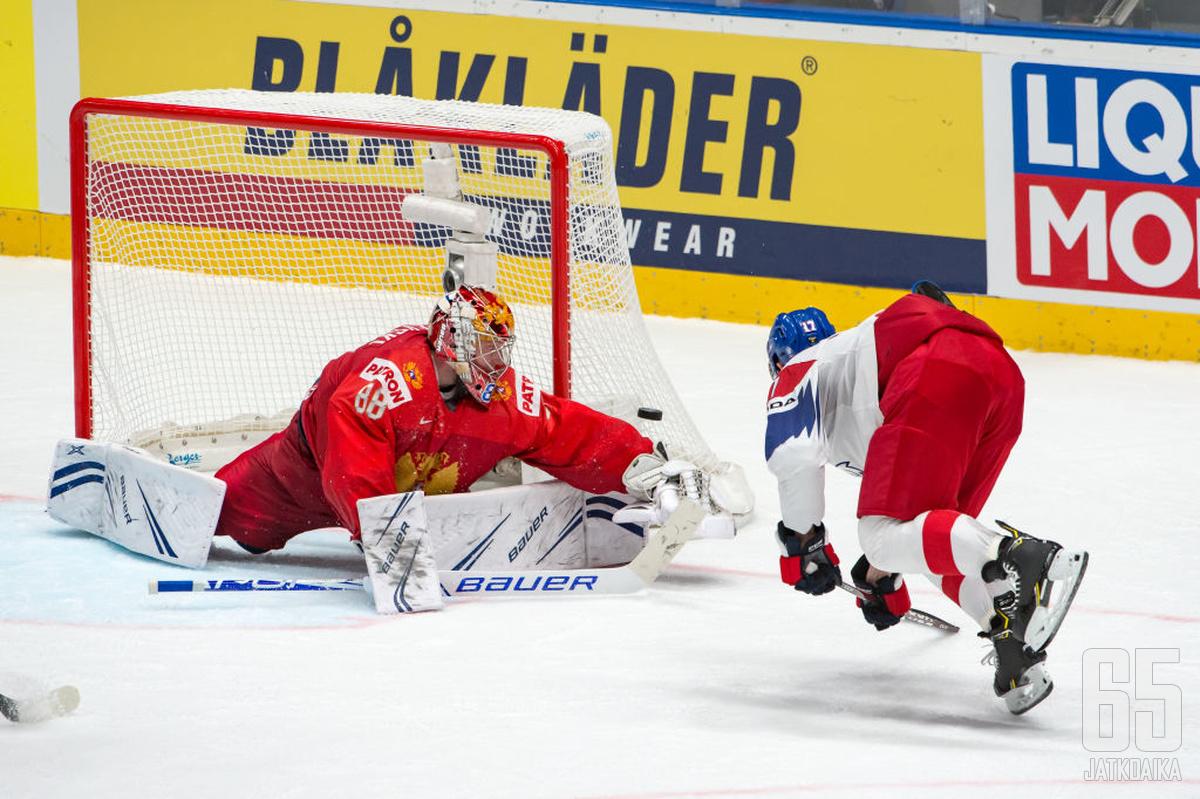 Tšekki yrittää yllättää Venäjän olympiaurheilijat.