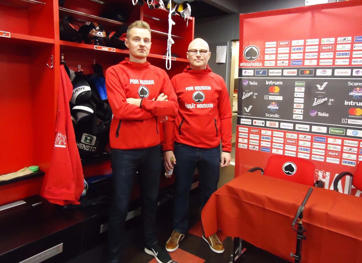 Jaakko Rosendahl ja Seppo Vihelä kuuluivat jo viime kaudella joukkueen valmennustiimiin.