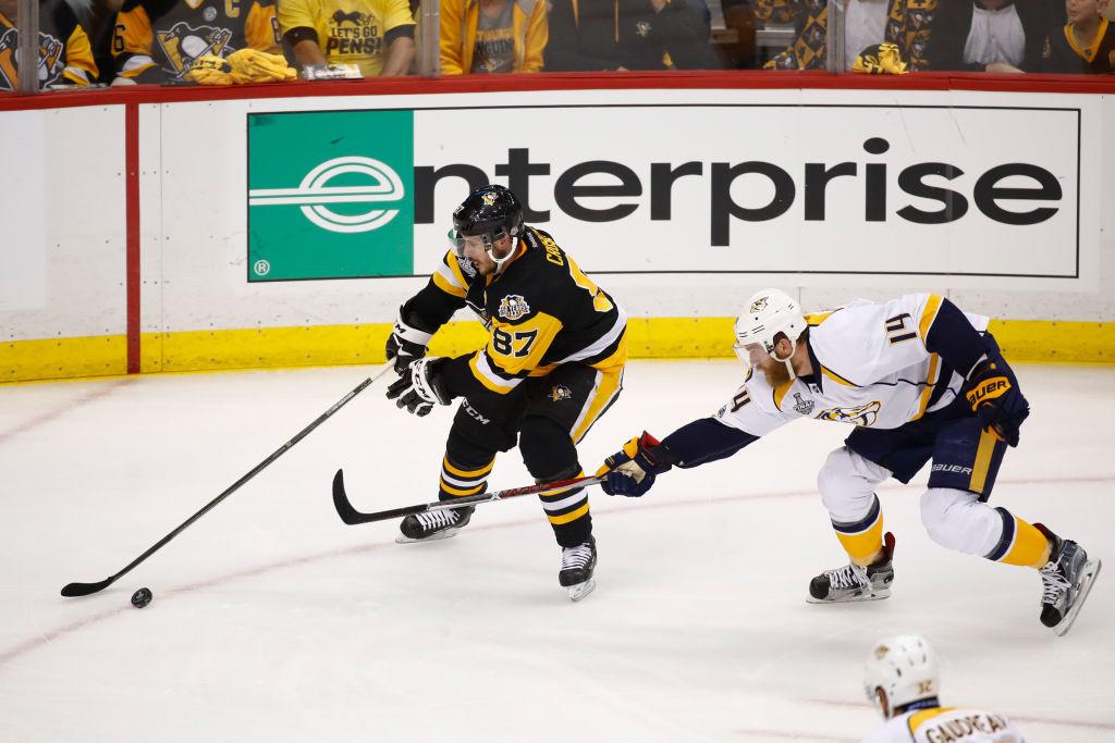 Sidney Crosby oli viidennessä ottelussa tehokkaana.