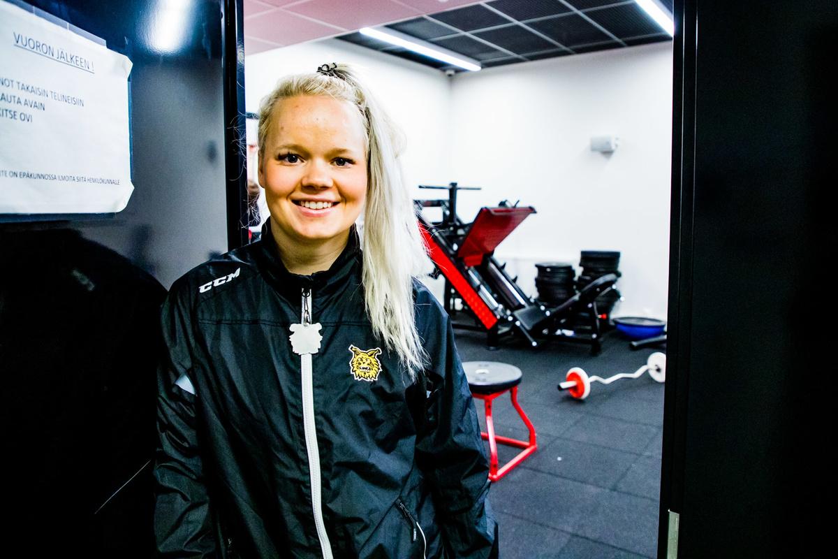Linda Leppäselle punttisali tuli tutuksi jo pelaajauralla.
