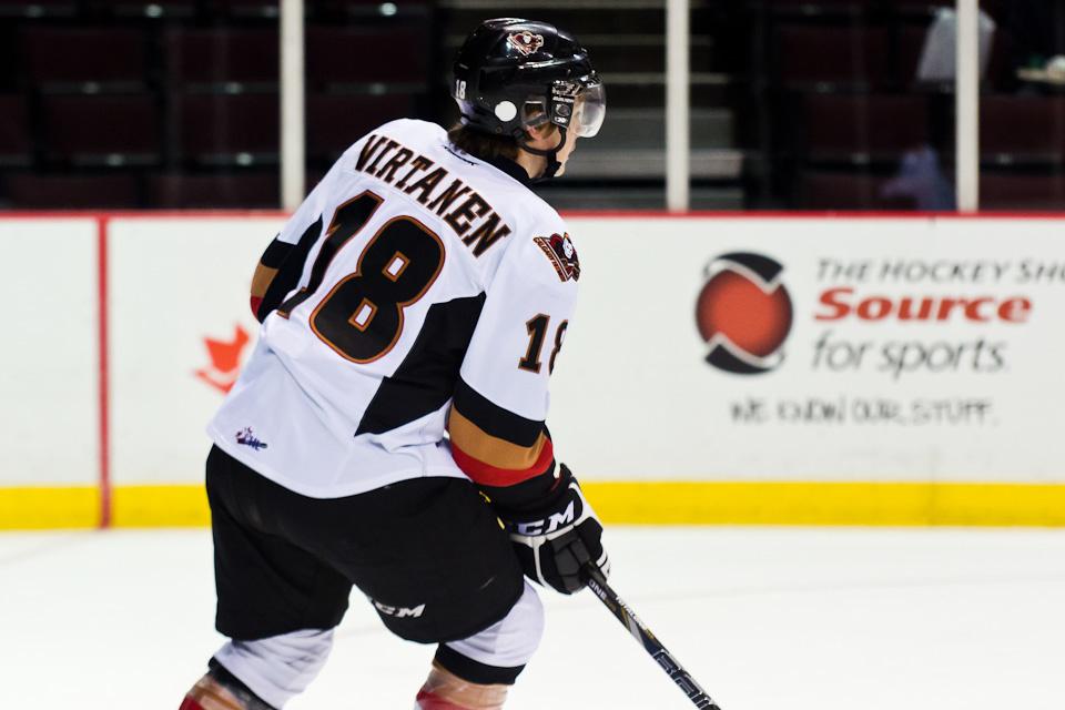 Virtanen viettänee vielä tulevan kauden Calgaryn Hitmenissä.