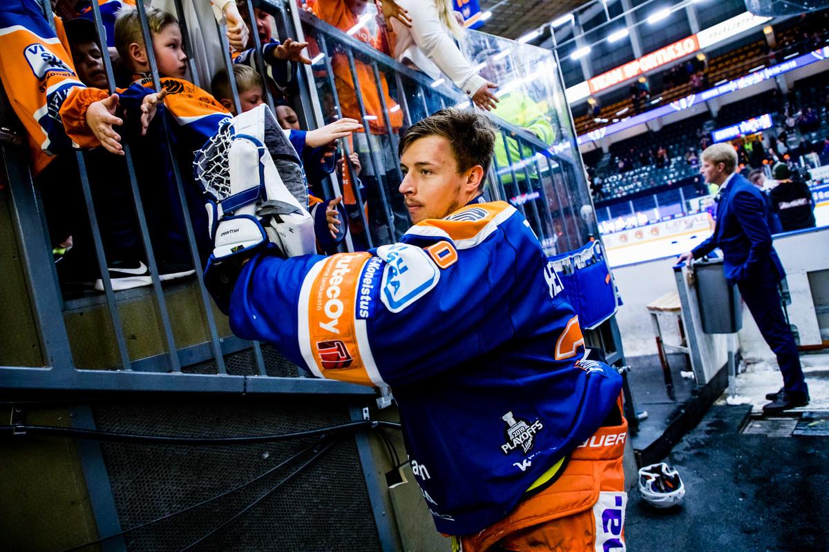 Christian Heljanko on ensi kaudellakin paljon vartijana Tapparan maalilla.