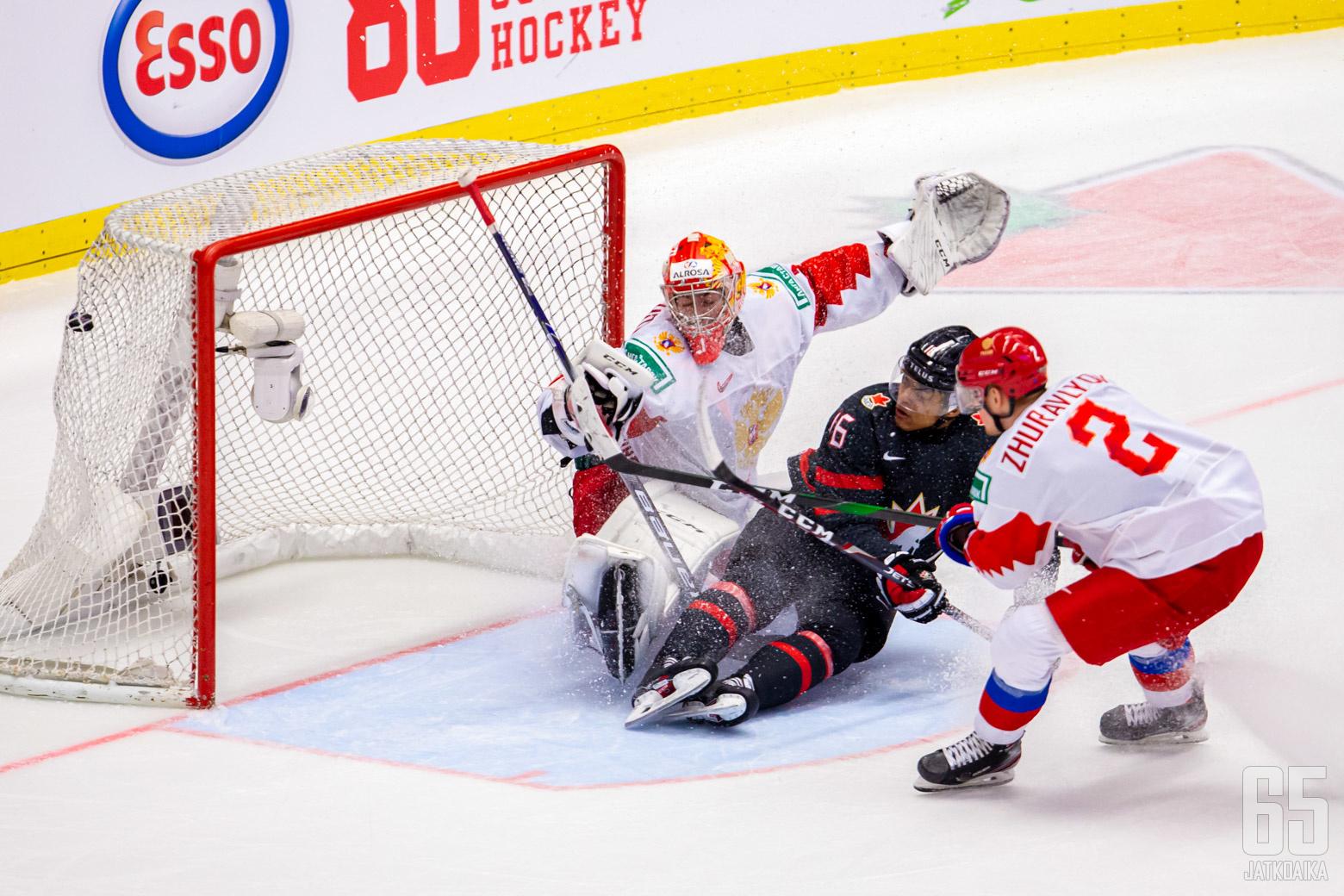 Kanada-Venäjä, finaali, Nuorten MM-kisat 5.1.2020, Ostravar Aréna, Ostrava. (Kuva: Jari Mäki-Kuutti)