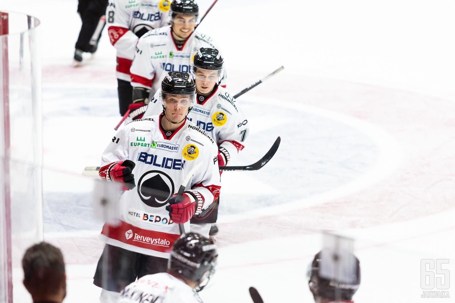 Jakob Stenqvist, Ässät ottelussa HIFK - Ässät, 13/10/2020, Helsingin jäähalli, Helsinki, Suomi. Photo: Joonas Kämäräinen
